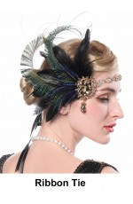 1920s Feather Gatsby Flapper Headpiece