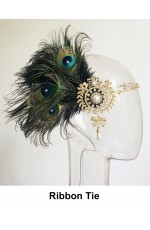 Ladies 1920s Feather Feather Headpiece lx0267