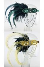 Ladies 1920s Feather Headdress Fancy Dress