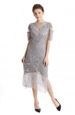 Ladies 1920s Flapper Fashion Dress