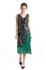Ladies 1920s Flapper Vintage Fancy Dress Costume