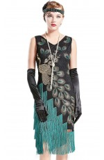 1920 Black Gatsby Flapper Costume