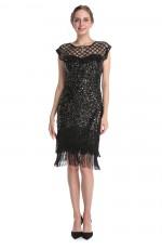 Black 1920 gatsby flapper dress