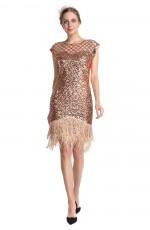 Rose gold 1920 gatsby flapper dress