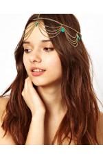 Deco Vintage Hairband 20s  Flapper Chain Headband Great Gatsby Downton Wedding Boho Goddess