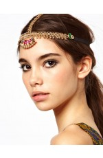 Bohemian Deco Vintage Hairband 20s  Flapper Chain Headband Great Gatsby Downton Wedding Boho Goddess