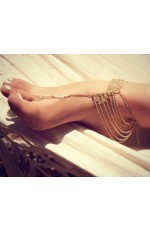 Bohemian Beach Multi Tassel Toe Anklet Chain Bracelet Barefoot Sandal Bridal Beach Foot Jewelry
