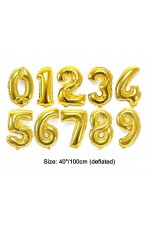 "Gold 40""  Numbers Air Inflatable Balloon"
