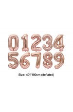 "Rose 40""  Numbers Air Inflatable Balloon"