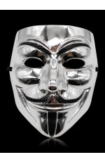 silver V For Vendetta Mask lx2025-2