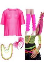 Pink 1980s Costume