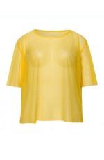 Yellow Neon Fishnet Vest Top T-Shirt 1980s Costume