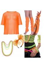Orange 1980s Costume