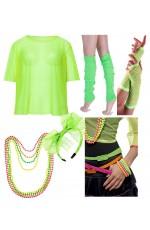 Green Neon 1980s Costume