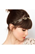 Deco Vintage Hairband 20s  Flapper Chain Headband Great Gatsby Downton Wedding Boho Goddess