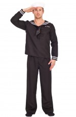 Mens Sailor Captain Uniform Fancy Dress