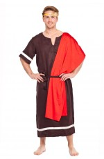 Mens Caesar Adult Roman Greek Julius Toga Costume Fancy Dress