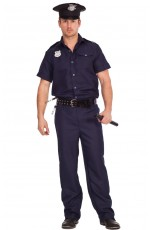 Mens Policeman Cop Uniform Fancy Dress