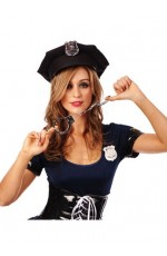 Policeman Police Officer Cop Uniform Halloween Costume Accessory hand cuffs