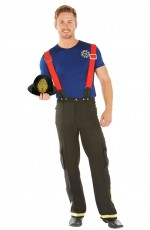 Men's Fireman Fire Fighter Fancy Dress Costume