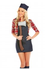 Lumber Jack Women Wood Forrest Lumberjack Fancy Dress