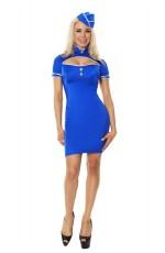 Ladies Air Hostess Fancy Dress Costume