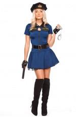 Ladies Police Cops Uniform Halloween Fancy Dress Costume