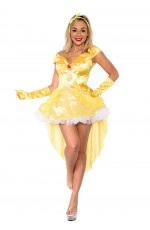 Disney Princess Belle Beauty and the Beast Fancy Dress Up Halloween Party Costume Outfit