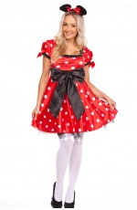 Minnie Mini Mickey Mouse Fancy Dress Party Hens Costume
