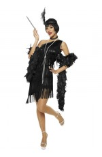 1920s Charleston Black Flapper Costume