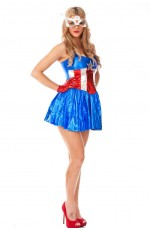 Ladies Wonder Woman Superhero Costume