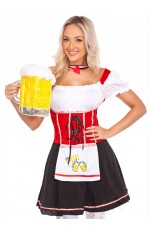 Ladies German Oktoberfest Beer Maid Halloween Fancy Dress