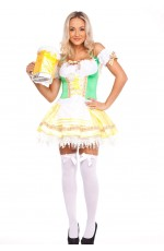 Ladies Oktoberfest Beer Maid Halloween Dress Up Costume