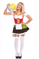 Ladies German Oktoberfest Beer Maid Fancy Dress Costume
