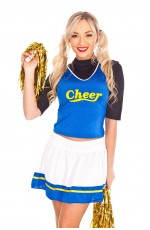 Ladies School Girl Cheerleader Costume