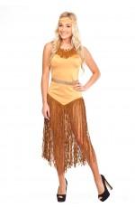 Ladies Indian Princess Wild West Fancy Dress