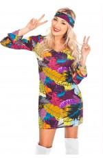 60s 70s Abba Retro Hippie Girl Disco Dancing Costume Groovy Hens Fancy Dress