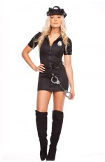 Womens black Police Cops Uniform Costume