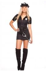 Womens black Police Cops Uniform Costume