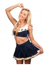 Navy Blue Cheerleader Costume