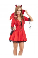 Halloween Devil Fancy Dress Costume