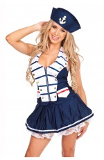 Navy Sailor Fancy Dress Costume Outfit