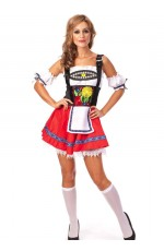 Red Oktoberfest Inspired Halloween Costume