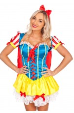 Ladies Snow White Disney Fancy Dress Costume