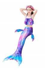 Girls Mermaid tails Swimmable Swimsuit Costume Monofin