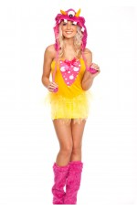 Ladies Halloween Shaggy Shelly Monster Costume