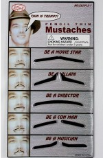 Pencil Thin Moustache Set