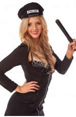 Ladies Black Police Uniform Dress Up Costume