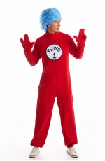 Mens Dr Seuss Thing 1 Thing 2 costume