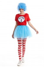 Couples Women Dr Seuss Cat In The Hat Thing Costume Set